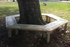 How to Build a Tree Bench: Need more seating for your play area? Try building…
