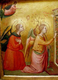 Annonciation detail - BERNARDO DADDI (Italian, Florence (?) ca. 1290–1348 Florence) #TuscanyAgriturismoGiratola
