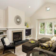 TV Next To Fireplace Design Ideas, Pictures, Remodel and Decor. Elgin Christian Gladu Design