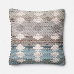 Loloi Handwoven Watercolor Weave Throw Pillow