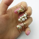 #beautiful #lovely #cute #flower #nailrings #accessories #fashion #girls #women #outfits #onlineshopping #australia #Worldwide #love #simple   http://www.eagerstore.com