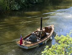 Steam Boats on the River Thames at Culham Cut