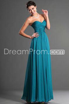 US $129.99 Free Shipping 2014 A Line Floor Length Blue Sweetheart Chiffon Prom Dresses