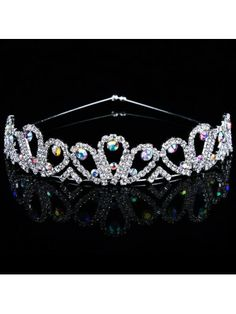 Alloy with Rhinestiones and Zircons Wedding Bridal Tiara