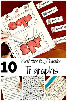 10 Activities for Teaching Trigraphs or consonant clusters with a Free Coloring Printable
