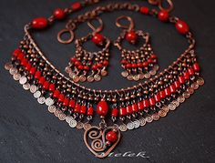 Gypsy Necklace/Earrings set   Flickr - Photo Sharing!