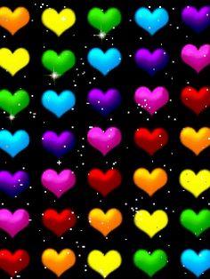 LOGO de Portable.image de coeurs multicolores