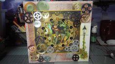 steampunk card I made.