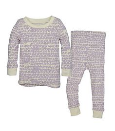 Kids Clustered Star Organic Cotton Two Piece Pajamas: Color - Morning Haze