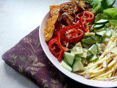 Nutty Sweet Potato Salad #veganmofo