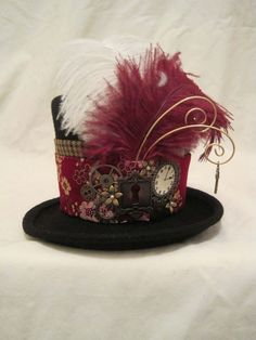 steampunk hat for women -- like the plumes to go with the cotumes Steampunk DIY Projects Decor and Clothing Project Ideas Project Difficulty: Simple MaritimeVintage.com