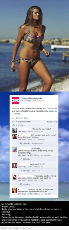 funny status plus sized model is perfect comments cosmopolitan