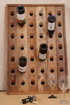 Reclaimed Wood Riddling Wine Rack