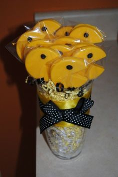 A Dozen Chocolate Pacman Lollipop Bouquet by ericajmoore on Etsy, $34.99