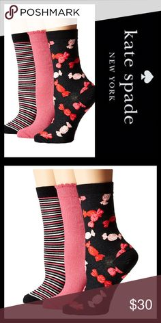 ♠️JUST IN♠️CANDY-STRIPE TROUSER SOCKS Boxed and ready for gifting, kate spade new york's trio of casual trouser socks will excite not just the feet.  ♠️Contains 3 pairs ♠️One size fits most ♠️Cotton/nylon/spandex ♠️Machine washable ♠️PRICE IS FIRM UNLESS BUNDLED  🛍 2+ BUNDLE=SAVE  ‼️NO TRADES--NO HOLDS--NO MODELING  💯 Brand Authentic  ✈️ Ship Same Day--Purchase By 2PM PST  🖲 USE BLUE OFFER BUTTON TO NEGOTIATE   ✔️ Ask Questions Not Answered In Description--Want You Yo Be Happy! kate spade…