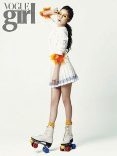 KARA's Goo Hara Grabbed Her Pom Poms and Roller Skates for Vogue Girl