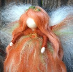 Wool Angel - Sweet Autumn Blessing Fairy - Needle felted Waldorf Steiner…