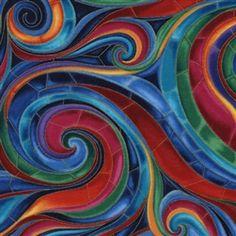 Swirl Tiffany Timeless Treasures quilt fabric