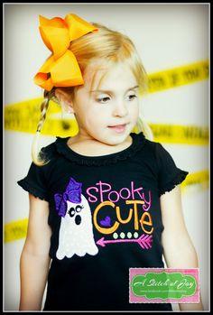 girls halloween shirt toddler halloween shirt by astitchofjoy