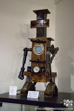 rusted robots hand made robot art -