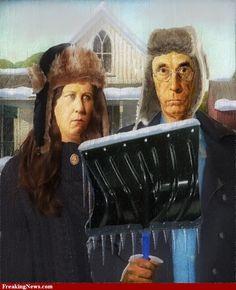 American Gothic Winter