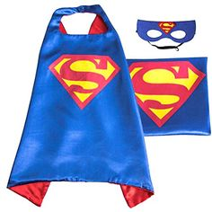 (Superman (blue)) ROXX Superhero Kids Girl Boy Cape and Mask Costume for Child - http://our-shopping-store.com