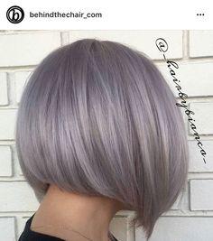 Best Indoor Garden Ideas for 2020 - Modern Short Bob Hairstyles, Braided Hairstyles, Lilac Silver Hair, Grey Pixie Hair, Bob Haircut Back View, Hair Color Balayage, Hair Inspiration, Short Hair Styles, Hair Makeup