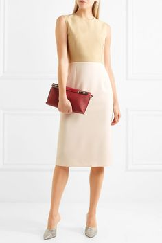 Joseph | Sabine two-tone cady dress | NET-A-PORTER.COM