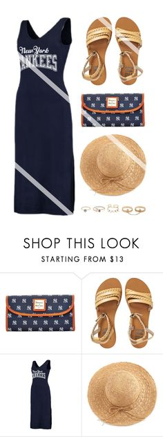 """""""Gone to the G a m e"""" by nonniekiss ❤ liked on Polyvore featuring Dooney & Bourke, Billabong, G-III, WithChic, LULUS, fashiontrend, nonniekiss and nonniestyle"""