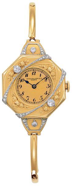Reloj Pateck Philip, C.1911 - Reloj joya de señora con pulsera.   Supernatural Styl