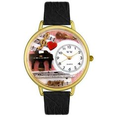Music Teacher Watch in Gold (Large)