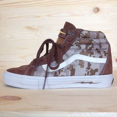 32ce839a4a55e2 Vans defcon sk-8 hi camo skate shoes brown missoni supreme syndicate wtaps  sz9
