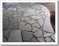 recycled broken concrete