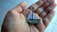 Little quilled boat 3 x5 cm