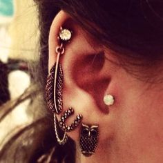 Vintage Cartilage Chain Earrings For Girls