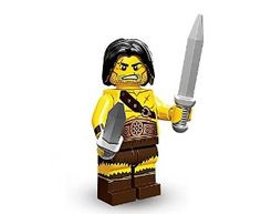 TAKARA TOMY LEGO Minifigures Series 11 Barbarian COLLECTIBLE Figure savage wilderness sword gripped in each hand