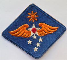 ARMY AIR FORCE BULLION FELT AAF SHOULDER SLEEVE PATCH WW2 9TH U.S.A.A.F