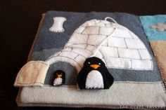 The Craft Revival: my creative space: quiet book.penguins in igloo Diy Quiet Books, Baby Quiet Book, Felt Books, Quiet Book Templates, Quiet Book Patterns, Meme Costume, Fidget Blankets, Homemade Toys, Toddler Books