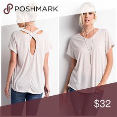 Oh My Taupe Top Super cute oatmeal top! The color is a true oatmeal. It's the lighting that has it a cream color. Tops