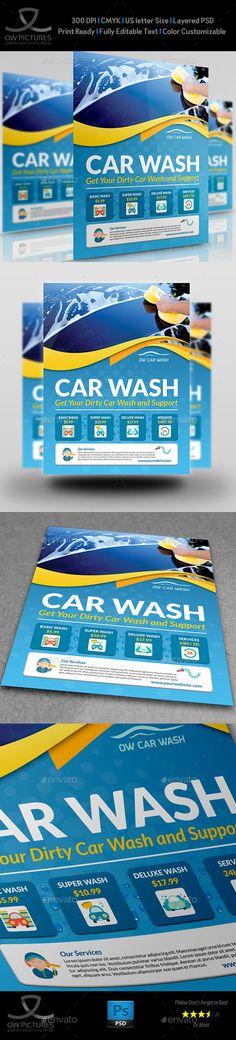 Car Wash Services Flyer Templates
