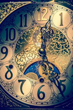 Clock face of an antique grandfather clock from the private collection of Champ's Clock Shop in Douglasville, Georgia Clock Art, Clock Decor, Old Clocks, Antique Clocks, Antique Grandfather Clock, Grandfather Clock Tattoo, Clock Shop, Father Time, Time Clock