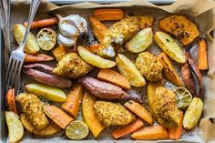 There's little fuss with a tray bake meal but that doesn't mean they are short on flavour. These family friendly dinners deliciously prove our point - Eat Well (formerly Bite) Harissa Chicken, Roasted Chicken, Baked Chicken, Roll Eat, Roast Pumpkin, How To Cook Potatoes, Cooking Recipes, Healthy Recipes, Just Cooking