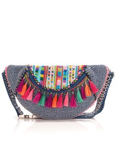 Peri Tassel Bumbag - could add small brightly colored tassels to a lot of different things Diy Sac Pochette, My Bags, Purses And Bags, Clutch Purse, Coin Purse, Ethnic Bag, Boho Bags, Cute Bags, Mode Style