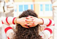 FashionEdible: Stripes and Cuffs Zoya Nail Polish, Nail Polish Colors, Red Curls, Shades Of Red, Lifestyle Blog, Compliments, Travel Inspiration, Beauty Hacks, Cuffs