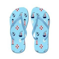 Lighthouses Nautical Flip Flops $16.00 from Flip-Flop Fanatic