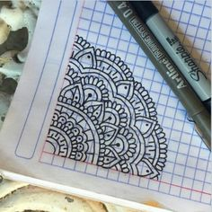 Easy Mandala Drawing, Mandala Doodle, Mandala Artwork, Dibujos Zentangle Art, Zentangle Drawings, Doodle Drawings, Art Drawings For Kids, Pencil Art Drawings, Easy Drawings
