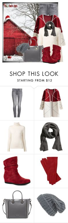 """""""Happy Holidays!!"""" by ccroquer ❤ liked on Polyvore featuring GUESS, Chloé, Cougar, Charles Jourdan and Phase 3"""