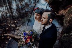 Inked-spiration Styled Shoot im Wald Poster, Victorian, Crown, Tattoo Bunt, Wedding, Style, Fashion, Pictures, Paper Mill