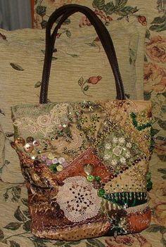 I ❤ crazy quilting . . . RenginYazitas- My first CQ purse