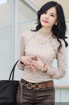 white lace turtleneck shirt | Office-Lady-Turtleneck-Lace-Tops-Shirts-Women-Plus-size-XXL-White ...